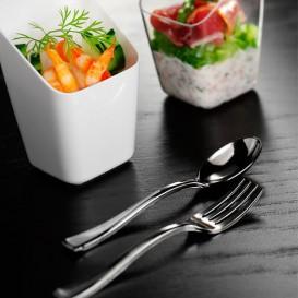 Cucchiaino di Plastica Metallo 130mm (500 Pezzi)