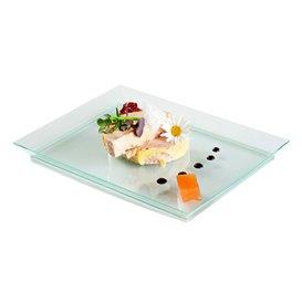 Vassoio Plastica Rigida Water Green 13x18cm (4 Pezzi)