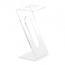 Stand di Plastica per Bicchiere 1 Buco Transp. (2 pezzi)
