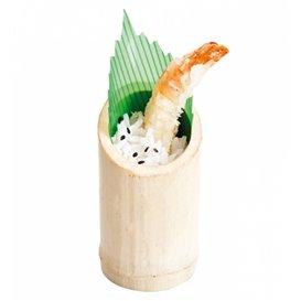 Bicchiere di Bambu Degustazione Troncato 5x9cm (10 Pezzi)