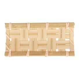 """Mini Vassoio di Bambù """"Intrecciato"""" 10,5x5cm (24 Pezzi)"""