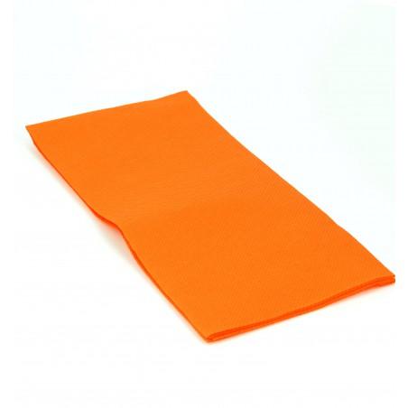 Tovagliolo di Carta 1/8 40x40cm Arancione Punta-Punta (50 Pezzi)
