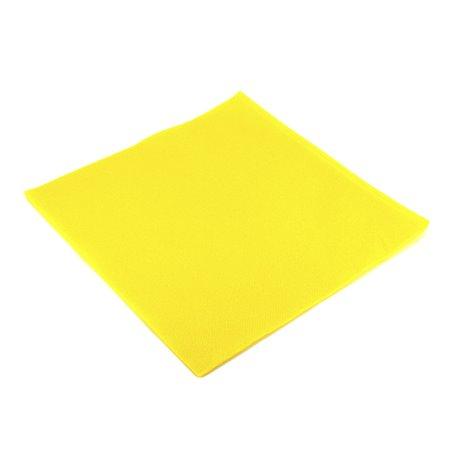 Tovagliolo di Carta 40x40cm Giallo Punta- Punta (50 Pezzi)
