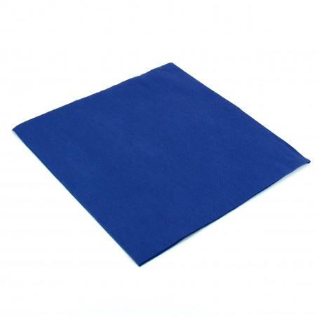 Tovagliolo di Carta 40x40cm Blu Punta- Punta (50 Pezzi)