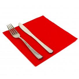 Tovagliolo di Carta 40x40cm Rosso Punta-Punta (1.200 Pezzi)