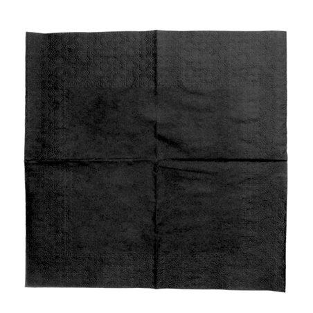 Tovagliolo di Carta Cocktail 20x20cm Nero (100 Pezzi)