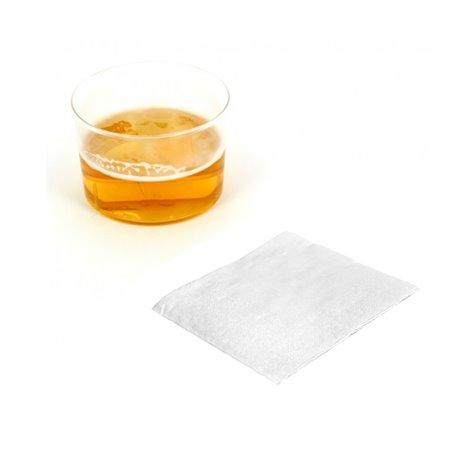 Tovagliolo di Carta Cocktail 20x20cm Bianco (100 Pezzi)