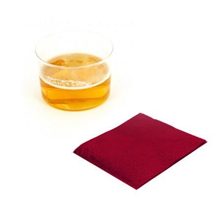 Tovagliolo di Carta Cocktail 20x20cm Bordò (100 Pezzi)