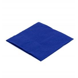 Tovagliolo di Carta Cocktail 20x20cm Blu (100 Pezzi)