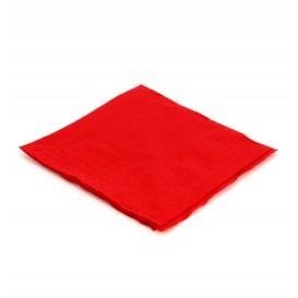 Tovagliolo di Carta Cocktail 20x20cm Rosso (100 Pezzi)