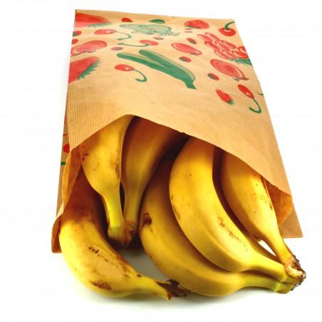 Sacchetto di Carta per Frutta 22+12x36cm (100 Pezzi)
